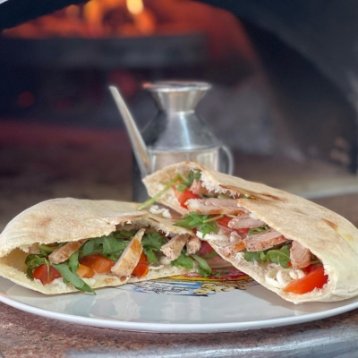 Poză Pizza Sandwich Rucolla Crudo